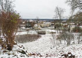 Krāslava  ietinas baltā sniega rotā. Foto: Inga Pudnika 11