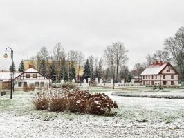 Krāslava  ietinas baltā sniega rotā. Foto: Inga Pudnika 14