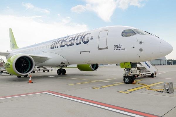 airBaltic turpinās lidojumus u