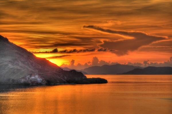 Komodo sala Indonēzijā uz gadu