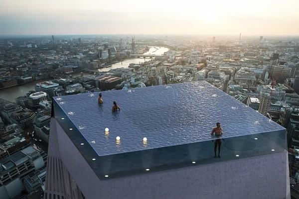Londonā uz debesskrāpja jumta
