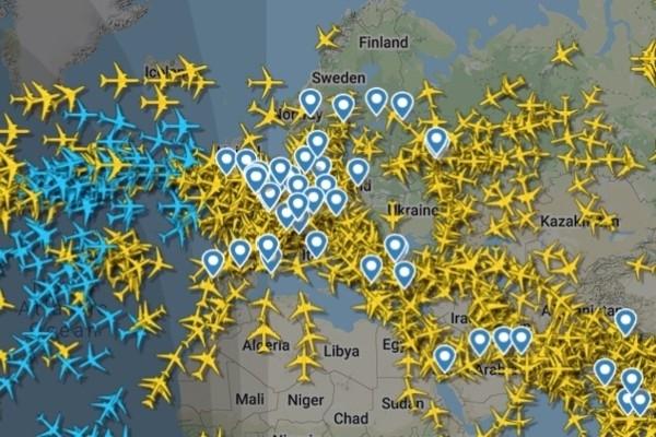 Ieskaties, cik intensīva ir gaisa satiksmes kustīb