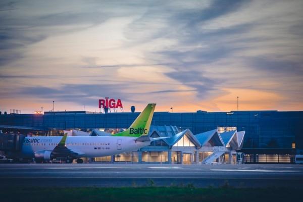 Pasažieru skaits lidostā «Rīga» 1.ceturksnī saruci