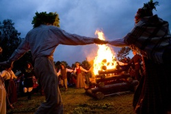Midsummer celebration in Turaida